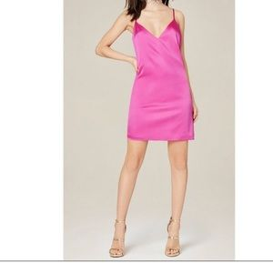 Bebe Sara mini silk slip dress